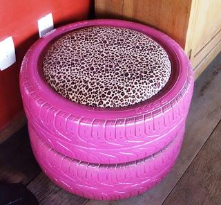 Puff com pneu