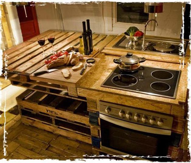 Dica de decora??o para casa: cozinha ecol?gica feita com pallets de ...