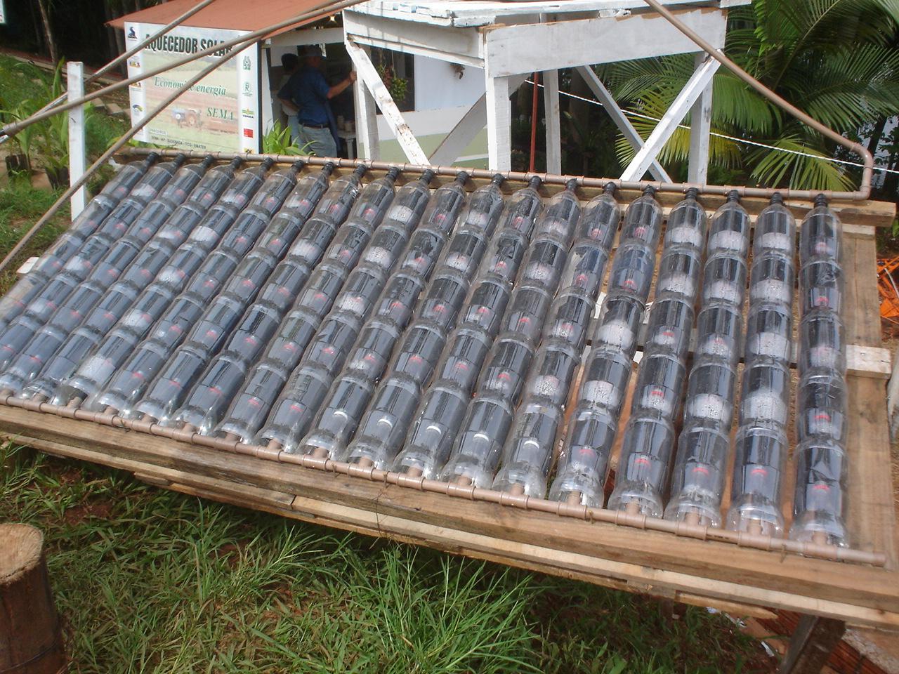Como fazer um aquecedor solar caseiro de garrafa pet for Water triturador