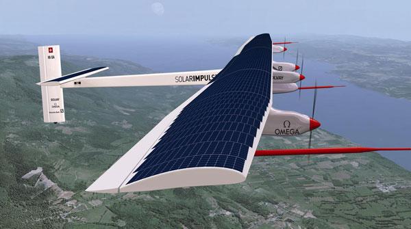 Avião movido à energia solar
