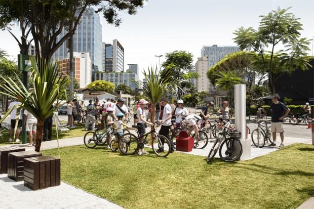Praça para ciclistas