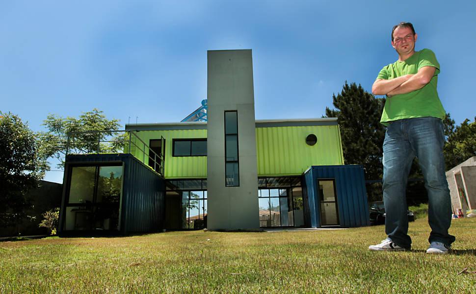Constru es sustent veis conhe a as casas container - Contenedores usados para vivienda ...