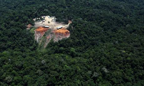 Extração ilegal de madeira na Amazônia