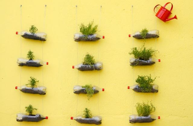 Muitas vezes Como montar uma horta vertical com garrafa pet em apartamento  QD79