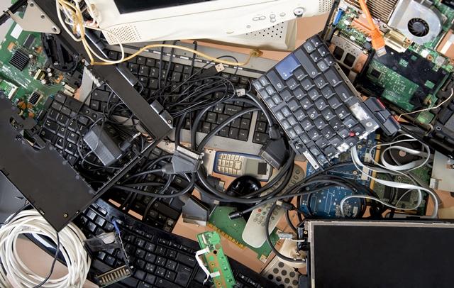 foto de lixo eletrônico
