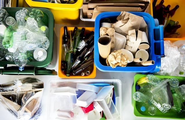 lixo separado para descarte
