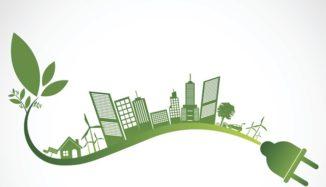 cidade sobre fio de energia