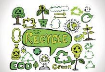desenho sustentáveis e de reciclagem