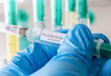 foto de homem segurando vacina da febre amarela