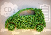 foto de carro feito de planta
